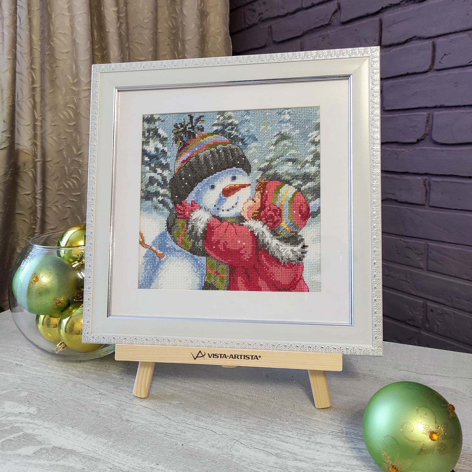 Picture cross stitch Snowman New year Winter cross Stitch, Pictures, Chelyabinsk,  Фото №1