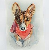 Картины и панно handmade. Livemaster - original item Portrait Pet portrait watercolor. Handmade.