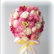 """Цветы и флористика ручной работы. Ярмарка Мастеров - ручная работа Топиарий """"Сияние розового"""". Handmade."""