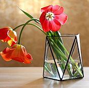 Для дома и интерьера handmade. Livemaster - original item Vase of glass. Geometric vase Loft. Handmade.