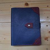 Канцелярские товары handmade. Livemaster - original item Leather notebook with rings A5. Handmade.