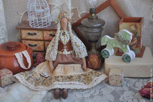 """Куклы Тильды ручной работы. Ярмарка Мастеров - ручная работа. Купить Кукла в стиле Кантри """"Я люблю свою лошадку"""". Handmade."""