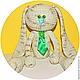 Игрушки животные, ручной работы. Мятная и розовая  Зайка амигуруми. Kireeva Katerina   +7 918 313 14 13. Интернет-магазин Ярмарка Мастеров.