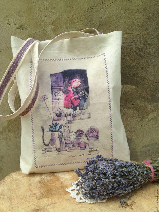 Женские сумки ручной работы. Ярмарка Мастеров - ручная работа. Купить Сумка Лили. Handmade. Лен, хлопок 100%