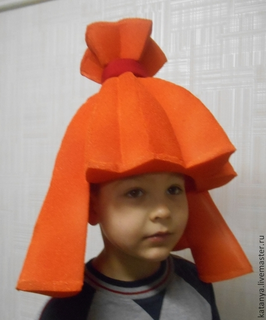 Шапки ручной работы. Ярмарка Мастеров - ручная работа. Купить Парик для фиксика Симки. Handmade. Оранжевый, фиксики, карнавальный костюм
