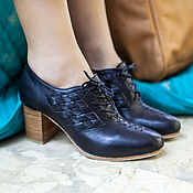 Обувь ручной работы handmade. Livemaster - original item Palmarosa. Leather booties with woven sides and handcut heel.. Handmade.