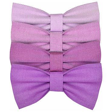 Аксессуары ручной работы. Ярмарка Мастеров - ручная работа Галстук-бабочка сиреневая лиловая лавандовая фиолетовая розовая. Handmade.