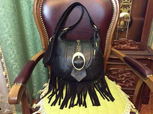 Кожаная сумка ручной работы (сумка из кожи)