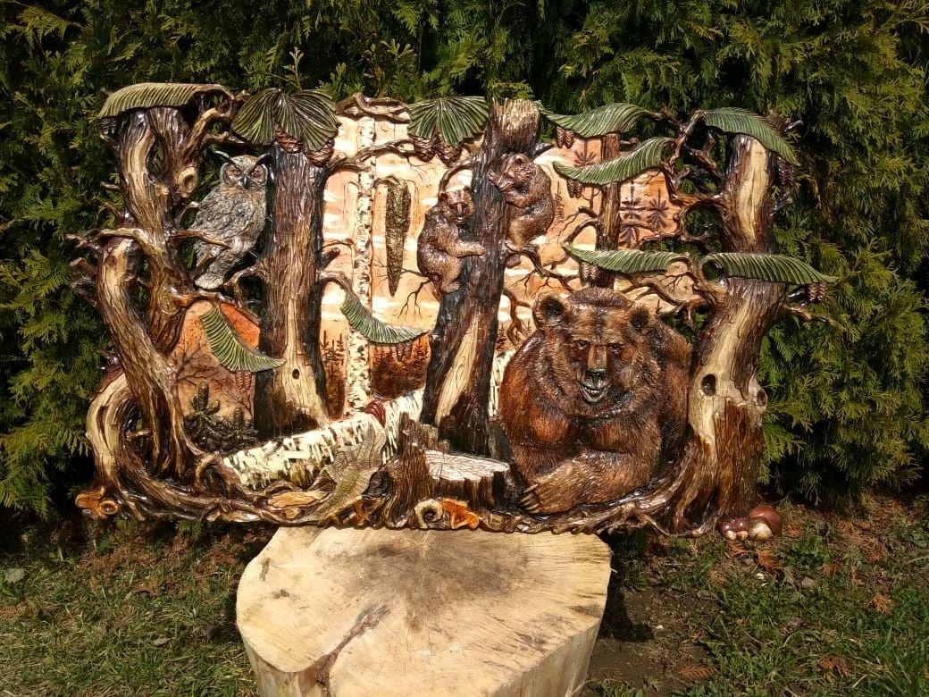 """Картина из дерева """"Медведи"""", Люди, Скопин, Фото №1"""
