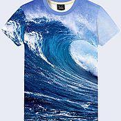 """Одежда ручной работы. Ярмарка Мастеров - ручная работа Мужская футболка """"Океан"""". Handmade."""