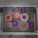 "Абстракция ручной работы. Ярмарка Мастеров - ручная работа. Купить ""Абстракция"" в стиле стринг арт. Handmade. Цветы, абстракция, панно"