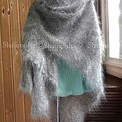 Аксессуары handmade. Livemaster - original item Shawls: knitted down shawl, light gray,154. Handmade.