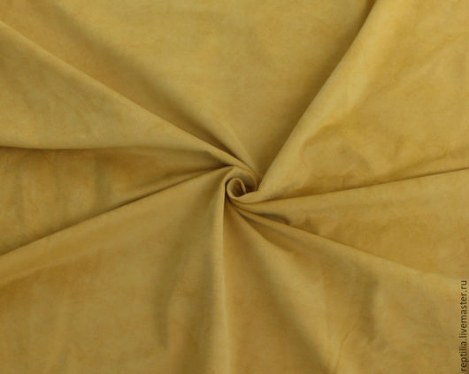"""Шитье ручной работы. Ярмарка Мастеров - ручная работа. Купить Натуральная замша """"Желтый"""". Handmade. Кожа, кожа натуральная"""