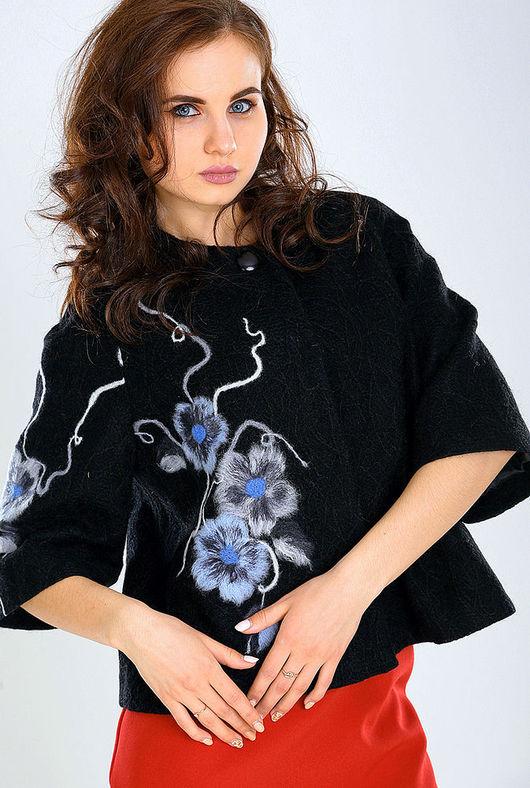 Верхняя одежда ручной работы. Ярмарка Мастеров - ручная работа. Купить ППК 08. Handmade. Цветочный, сухое фильцевание
