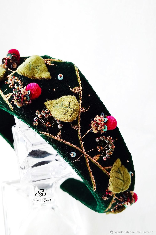 Ободок бархатный  Сладка ягодка, Ободки, Екатеринбург,  Фото №1