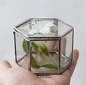 Свадебный салон handmade. Livemaster - original item Box. Jewelry box for rings. Glass casket. Wedding box. Handmade.