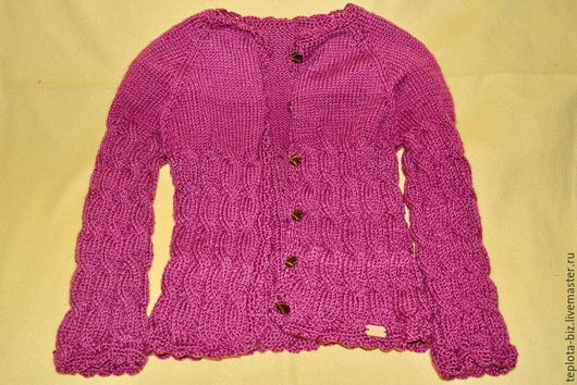 Одежда для девочек, ручной работы. Ярмарка Мастеров - ручная работа. Купить Кофточка для девочки. Handmade. Бордовый, однотонный, теплая кофта