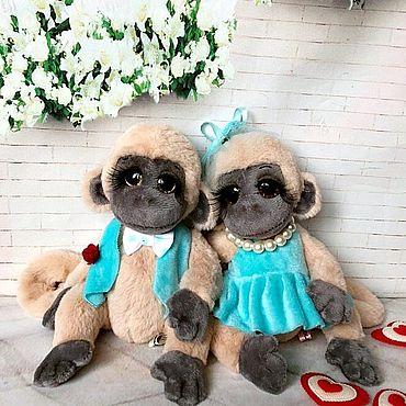 """Куклы и игрушки ручной работы. Ярмарка Мастеров - ручная работа Пара обезьянок """"Абу и Аби"""". Handmade."""