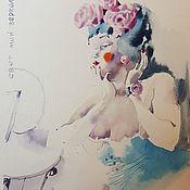 Картины и панно handmade. Livemaster - original item Mirror, mirror 2 watercolor. Handmade.