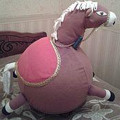 Мягкие игрушки ручной работы. Ярмарка Мастеров - ручная работа Чехол на фитнес мяч лошадка. Handmade.