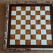 Винтаж ручной работы. Ярмарка Мастеров - ручная работа Шахматная доска (стол)  под реставрацию. Handmade.