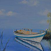 """Картины и панно ручной работы. Ярмарка Мастеров - ручная работа Картина """"Лодка"""". Handmade."""