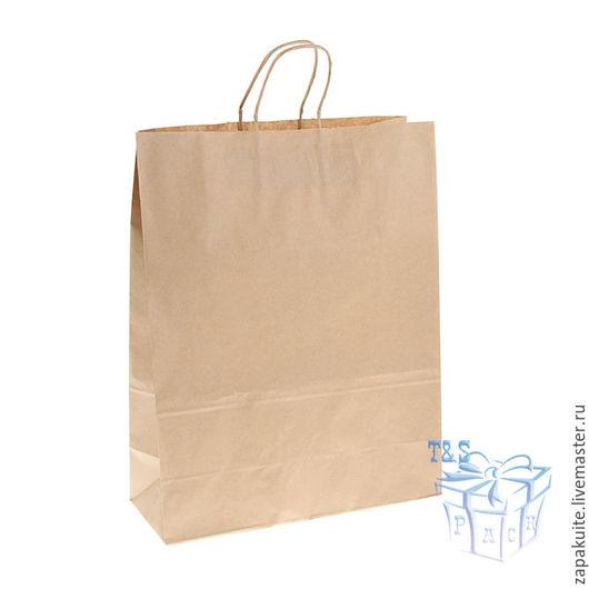 Упаковка ручной работы. Ярмарка Мастеров - ручная работа. Купить Крафт пакеты, 45х35х15 см, с кручеными ручками, пакеты, большой. Handmade.