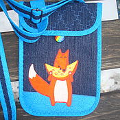 Маленькая джинсовая сумочка. Сумочка карман для документов и телефона.