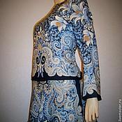 """Одежда ручной работы. Ярмарка Мастеров - ручная работа Блуза из павловопосадских платков """"Морозко"""". Handmade."""