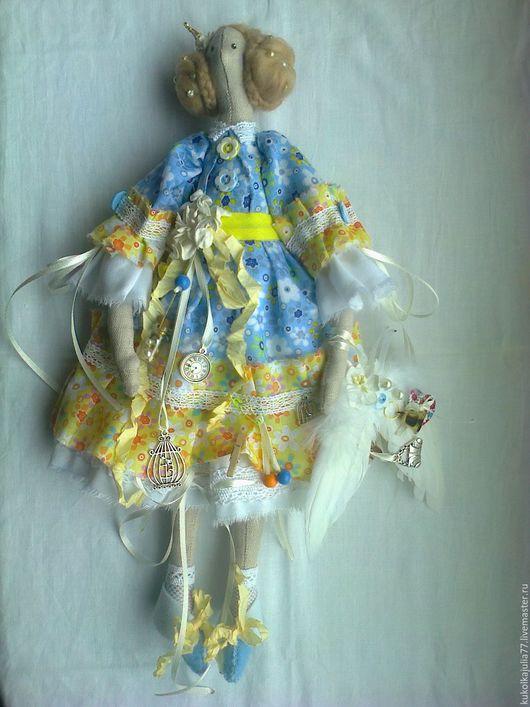 Куклы Тильды ручной работы. Ярмарка Мастеров - ручная работа. Купить Кукла Тильда. Handmade. Голубой, подарок, мечтательница
