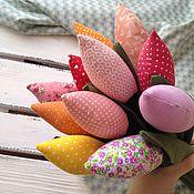 Куклы и игрушки ручной работы. Ярмарка Мастеров - ручная работа Букет тюльпанов солнечный. Handmade.