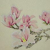 Картины и панно ручной работы. Ярмарка Мастеров - ручная работа картина Магнолия(китайская живопись цветы акварель пастельные тона. Handmade.
