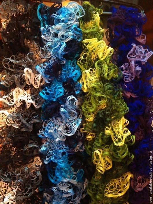 """Шарфы и шарфики ручной работы. Ярмарка Мастеров - ручная работа. Купить Шарфы ажурные """"Элегантность"""". Handmade. Разноцветный, шарф женский"""