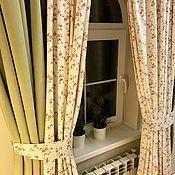 Шторы ручной работы. Ярмарка Мастеров - ручная работа Бархатные шторы Английский пикник. Handmade.