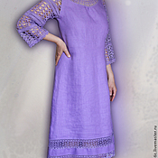 Одежда handmade. Livemaster - original item Linen dress in boho style
