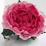 Украшения ручной работы. Ярмарка Мастеров - ручная работа Браслет  пион,браслет цветок,красный, полимерная глина,холодный фарфор. Handmade.