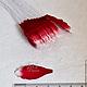 Лепестки лилии малые бело-красные My Thai Материалы для малбери-флористики из Таиланда
