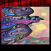 Фен-шуй и эзотерика ручной работы. Ярмарка Мастеров - ручная работа Амбиент – активная копия магической картины «Ночь». Автор - Rinnart Ge. Handmade.