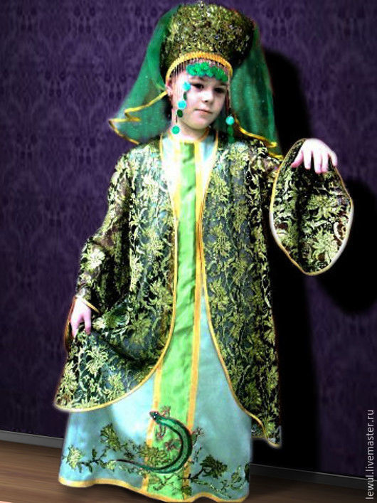Новогодний костюм ХОЗЯЙКА МЕДНОЙ ГОРЫ Эскиз описание