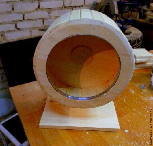 Для других животных, ручной работы. Ярмарка Мастеров - ручная работа. Купить Колесо деревянное, бесшумное, 30 см с защитой от сгрызания. Handmade.