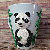 Посуда handmade. Livemaster - original item Mug Panda. Mug ceramic. Panda.. Handmade.