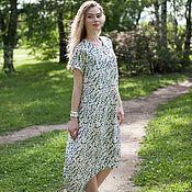 Одежда ручной работы. Ярмарка Мастеров - ручная работа Платье-рубашка КОФЕ голубой. Handmade.
