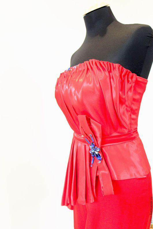 Платья ручной работы. Ярмарка Мастеров - ручная работа. Купить ЛЕДИ БАТОРИ платье из шелкового атласа. Handmade. Эффектное платье