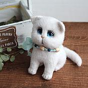 Куклы и игрушки handmade. Livemaster - original item White kitty Busya. Handmade.