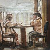 Для дома и интерьера handmade. Livemaster - original item Picture a Cozy place canvas oil 40-30 cm. Handmade.
