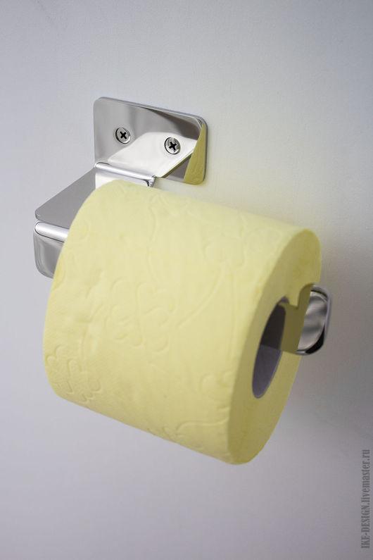 Ванная комната ручной работы. Ярмарка Мастеров - ручная работа. Купить Держатель туалетной бумаги. Handmade. Бумагодержатель, из нержавейки