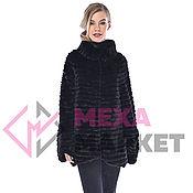 Одежда handmade. Livemaster - original item Mink jacket on Black knitwear. Handmade.