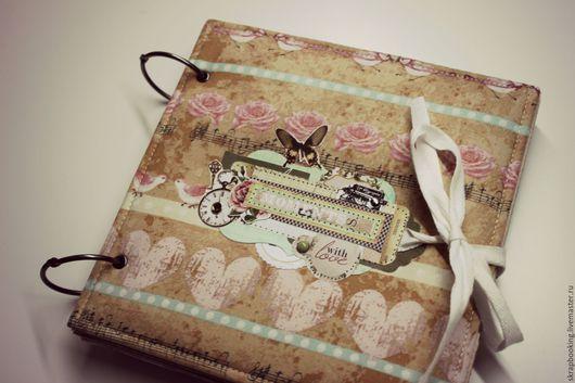 Скрап альбом  `Memory`, альбом для девушки, Мастерская Скрапбукинга Living History