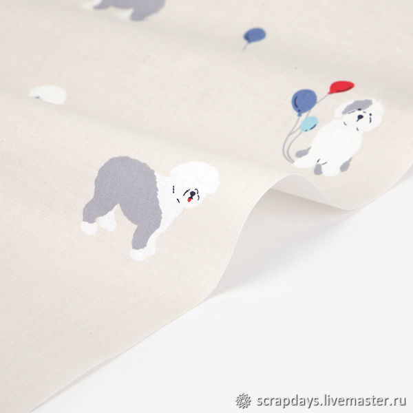 Ткань Dailylike «Jolly dog», Ткани, Санкт-Петербург,  Фото №1