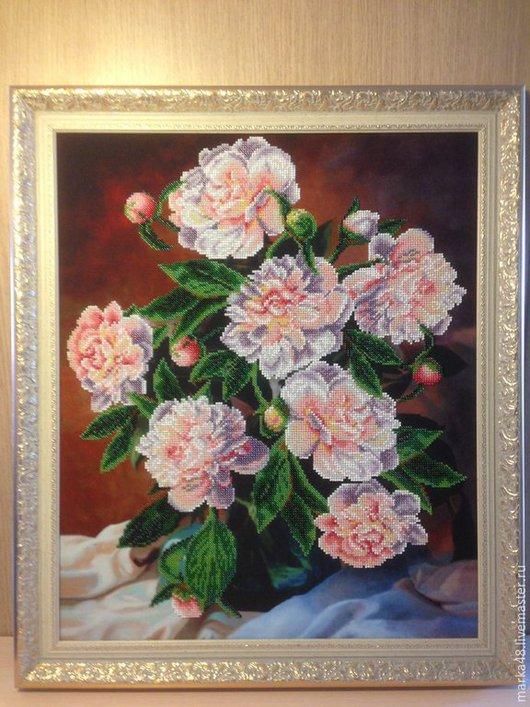 Картины цветов ручной работы. Ярмарка Мастеров - ручная работа. Купить Белые пионы. Handmade. Разноцветный, весна, цветы, букет